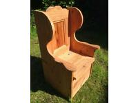 Children's solid wood chair