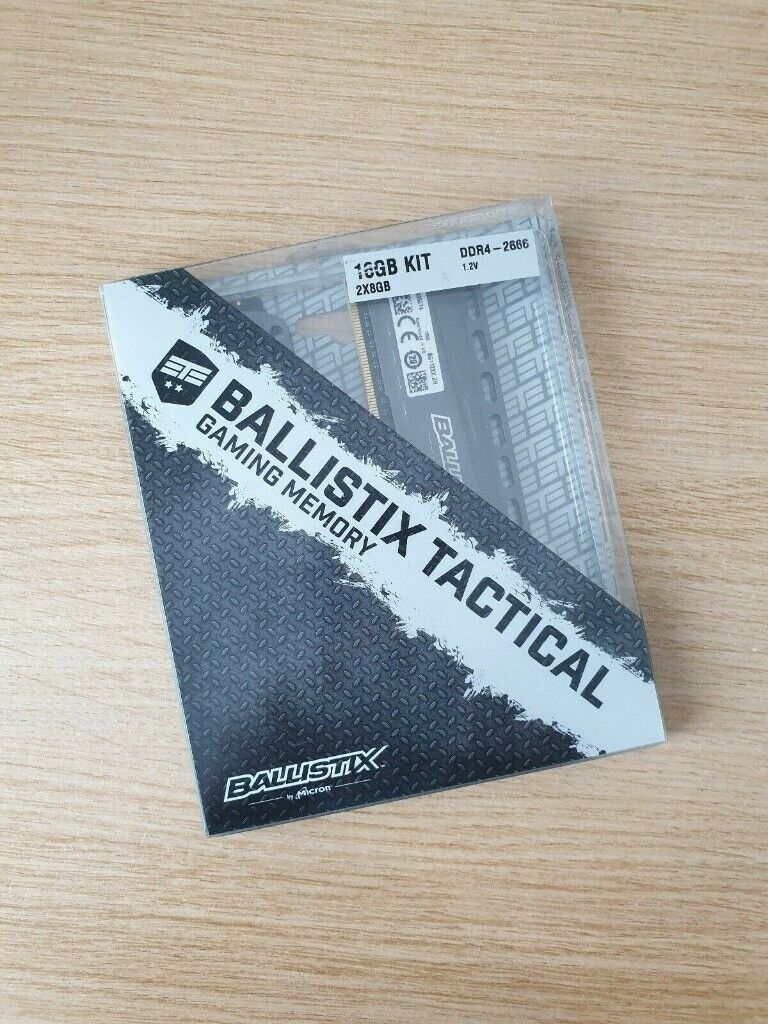 Crucial Ballistix Tactical DDR4 16GB (2 x 8GB) 2666 Computer Gaming Memory  / RAM   in Portadown, County Armagh   Gumtree