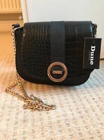 Brand new Dune Black bag gold chain