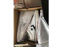 Brand new white converse size 7