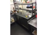Parry Stainless Steel Hot Cupboard with Chef's Rack - Ref 4954