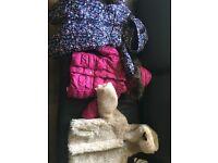 Girls winter jacket bundle of 3. 18-24 month