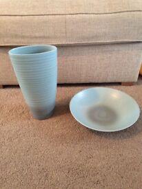 Vase & Bowl Duck Egg Next
