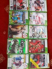 Xbox 360 4gb boxed with 10 games and 2 controllers