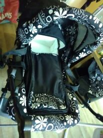 Pushchair with car seat and carycot