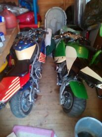 2 pocket bikes