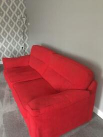 Modern Three Seater Sofa and Two Chairs