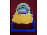 BABY WALKER WITH TRAY, MOTHERCARE, ADJUSTABLE SEAT