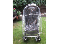pushchair by GRACO with rain cover