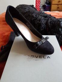 Carvela Kelly Black Suedette courts. Size 36. £30