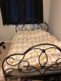 Gun Metal Grey Double Bed