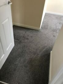 Like new Grey carpet and foam underlay