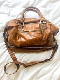 Beautiful Marks and Spencer Leather Weekend Bag