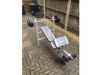 Maximuscle weight bench (weights included)