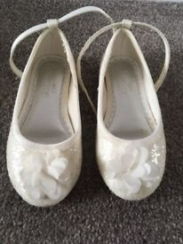 M&S girls pretty occasion shoes size 7
