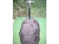Black Fabric Gemline Travel Bag with Wheels
