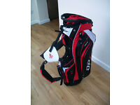 GOLF/STAND BAG-BRAND NEW WITH TAGS-14 WAY DIVIDER SLOTS- WITH RAIN HOOD