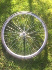 Road bike front wheel + tyre