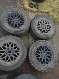 Set of 5 !! 15 inch alloys