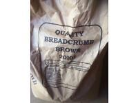 Fishing brown breadcrumb ground bait