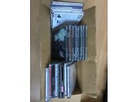 box of 57 misc jewel cases (used)