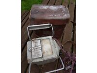 A professional Electricians Vintage Megga cased in leather