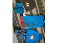 Boys hats, scarf and gloves