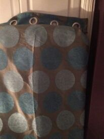 2 pairs Matching Fully Lined Curtains