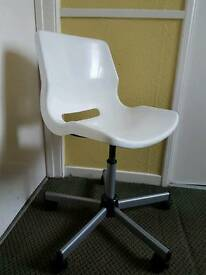 Ikea white plastic office/computer chair