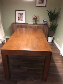 Next Mango wood dining table.