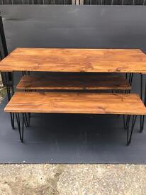 Dining Table & 2 Benches Brand New