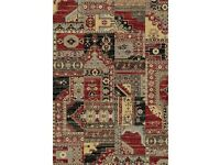 Patchwork Red/Gray Rug 60/160