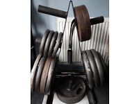 420kg Olympic weight set and 2x weight trees