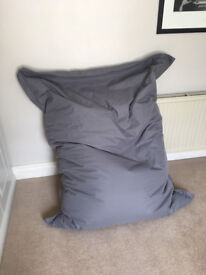 Giant gray Beanbag