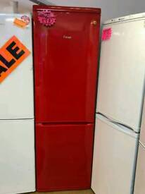 SWAN 70^30 FROSTFREE FRIDGE FREEZER IN RED
