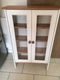 Pine display cupboard
