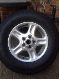 1x Kuhmo Road Venture AT 195 R15 100S Freelander tyre