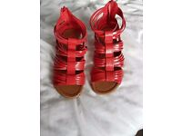Red sandles size 3