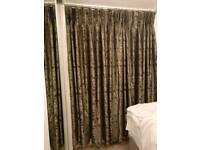 Two pairs of beautiful bronze metallic curtains