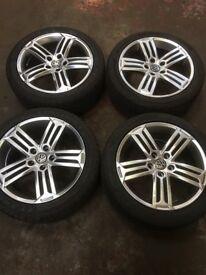 "Alloy Wheels - VW R Line Talladega 17"" replica alloys with tyres - Set of 5"