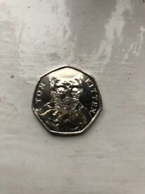 Very rare and collectible peter rabbit 50p coins