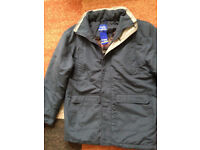 Mens Premier Blue Parka Winter Jacket Size 40-42 BNWT will post out