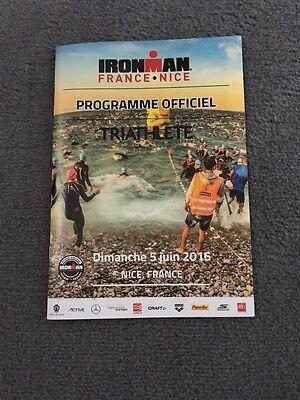 Programmheft vom Ironman Nizza 2016