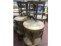 Round Wooden Hand Built Tables