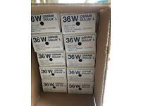 Light Bulbs - OSRAM 36W 2G11 LUMILUX LAMPS x 10 plus 7 Qty K1 – Q500 T3/CL Quartzline Halogen Lamps