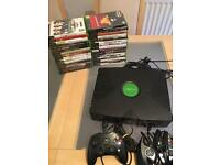 Xbox original console and 32 games