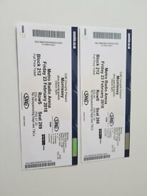 Morrissey Tickets x 2 for Newcastle this FRIDAY!!!