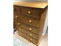 Solid wood Pine 2 over 4 Chest of Drawers