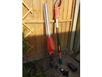 Flymo long reach cordless hedge trimmer