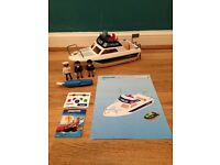 Playmobil 3190 5700 Police Boat Play Set As New Condition